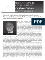 2010 Issue 1 - God's Good News - Counsel of Chalcedon