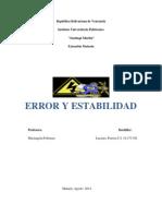 Error y Estabilidad