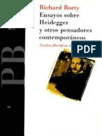 Rorty Ensayos Sobre Heidegger