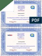 Achiever Certificate