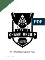 2014 World Championship Rule Setv1.00