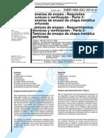 NBR 3310 - Peneiras de Ensaio - Requisitos Tecnicos e Verificacao - Parte 2 Peneiras de Ensaio De