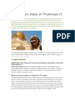 The Dream Stela of Thutmosis Iv