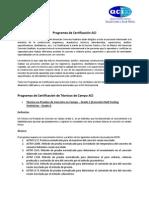 Programas de Certificación ACI 2014