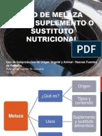 Uso de Melaza Como Suplemento o Sustituto Nutricional