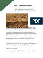 Causas y Efectos de La Contaminación Del Suelo