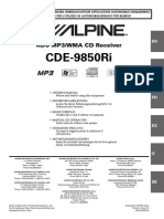 Car Stereo CDE-9850Ri Manual