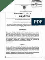 Decreto 480 Del 06 de Marzo de 2014