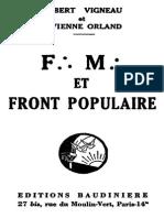 Albert Vigneau Vivienne Orland Franc-maconnerie Et Front Populaire