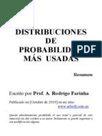 Distribuciones de Probabilidad Mas Usadas