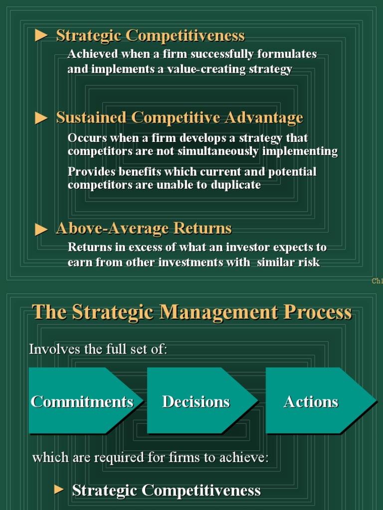 Strategic Management - IO & Resourse Model ...