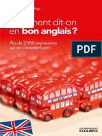 Comment Dit-On en Bon Anglais __Plus de - Piat, Jean Bernard