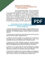 Manual de Docrina Iglesia CA