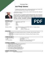CV Putut PAnji Utomo 2014 New