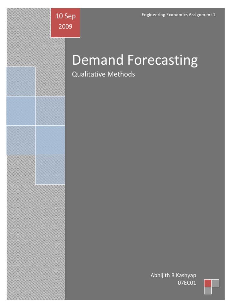 Qualitative Methods of Demand Forecasting | Forecasting | Retail
