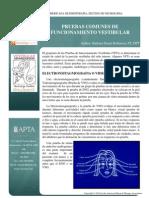 Common Vestibular Function Tests Spanish