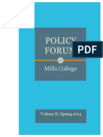 The Policy Forum at Mills