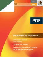 Asignatura estatalNayarit 2012