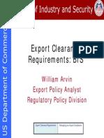 Export Clearance Webinar