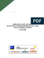 Especificacion Tecnica de Bancos de Condensadores de Mt Pa Uso en Se