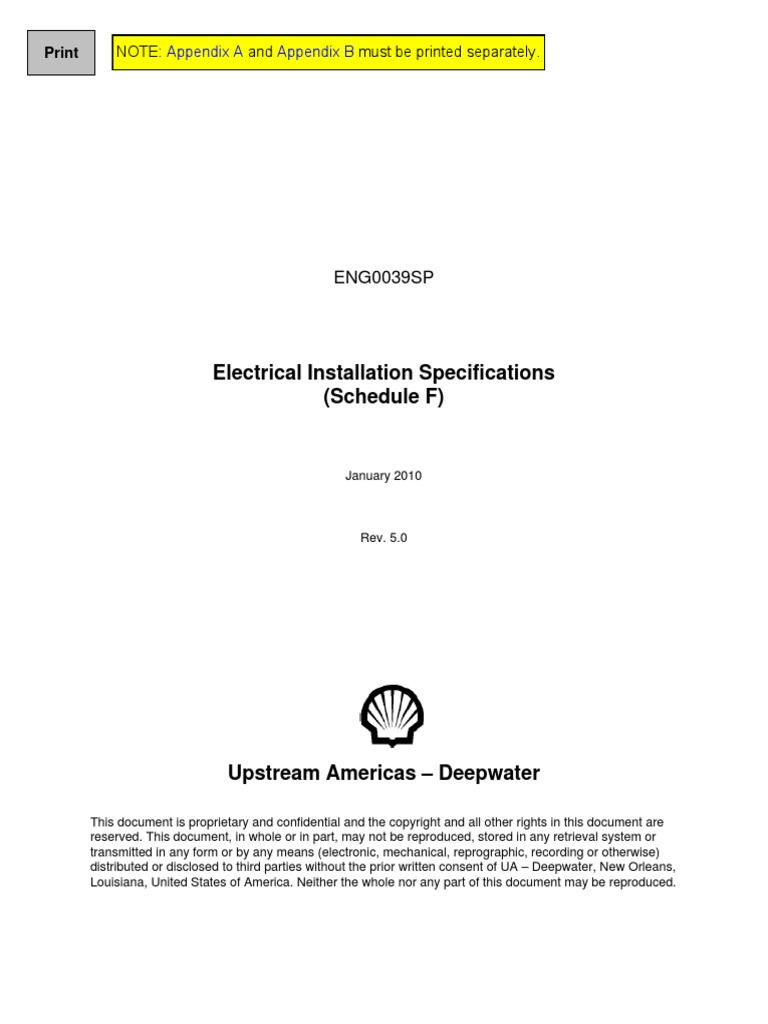Eng0039sp Electrical Installation Specifications Schedule F Rev1 Wire Color Code Additionally Thomas And Betts Duct On Iec Wiring 50 Cable