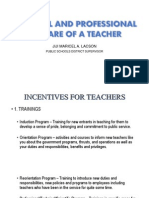 Perso PERSONAL AND PROFESSIONAL WELFARE OF A TEACHER.pptnal and Professional Welfare of a Teacher