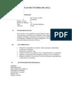 Plan Anual de Tutoria 2014 Svp