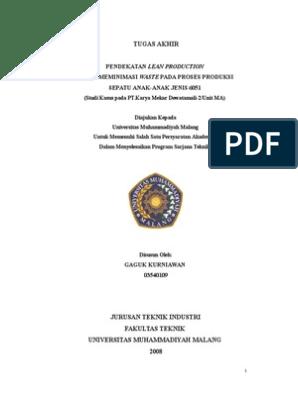 Contoh Skripsi Teknik Industri S1 Rajiman