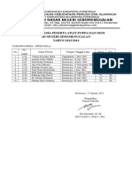 Daftar Peserta Atlit POPDA SBM