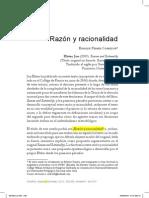 Razon y Racionalidad - Toman a JON ELSTER
