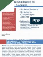 Presentación Las Sociedades de Capital- Sociedades Anónimas y Sociedades en Comandita Por Acciones