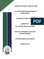 Niveles de Consciencia (Ensayo) Giovanni Damian Cruz Sanchez 5to B