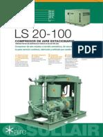 Ficha Técnica Compresor de Aire Sullair LS 20 100