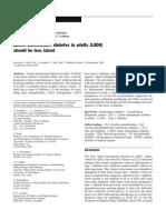 Latent Autoimmune Diabetes in Adults (LADA)