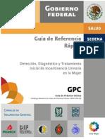 GRR Incontinencia Urinaria CENETEC