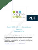 Sujet 2014 Dcg Ue11 Controle de Gestion