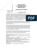 Convocatoria Pre Relaju Sección Chile