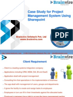 Case Study for Project Management System Using Sharepoint