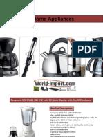 220 Volt Home Appliances at World-Import.Com