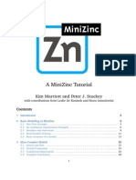 Minizinc Tutorial