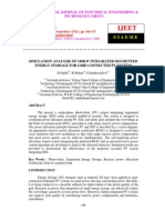 Simulation Analysis of 100kw Integrated Segmented Energy Storage for Grid Connected Pv System