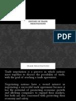 History of Trade Negotiations