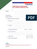 Chartek Applicator Application Form