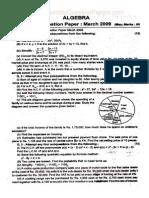 ]Maharashtra Board SSC-X Algebra Sample Paper 2