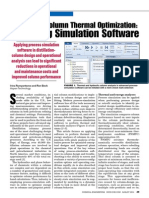 Distillation Column Thermal Optimization - Employing Simulation Software