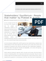 Stakeholders' Equilibrium - People That Matter' by Prateek N. Kumar