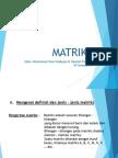 materi pembelajaran Matriks hanifah fauziah muhammad yossi hadi