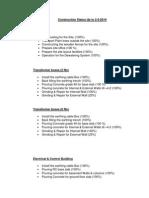 Construction Status 2-3-2014