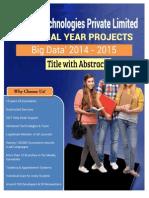 IEEE2014 BigData Abstract