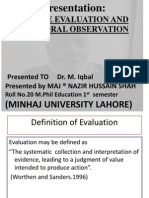 Adverse Evaluation and Behavioral Observation[1].Pptx Final Version